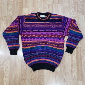 Vintage 90s 3D Coogi Style Cosby Biggie Sweater